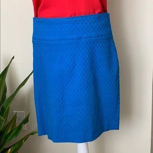 Margaret M Blue stretch skirt